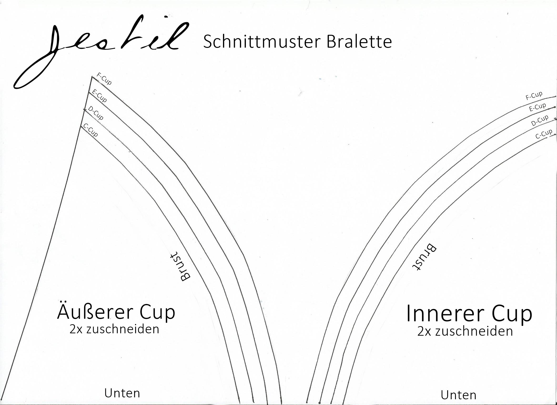 Bralette DIY inklusive Anleitung und Schnitt zum runterladen JESTIL