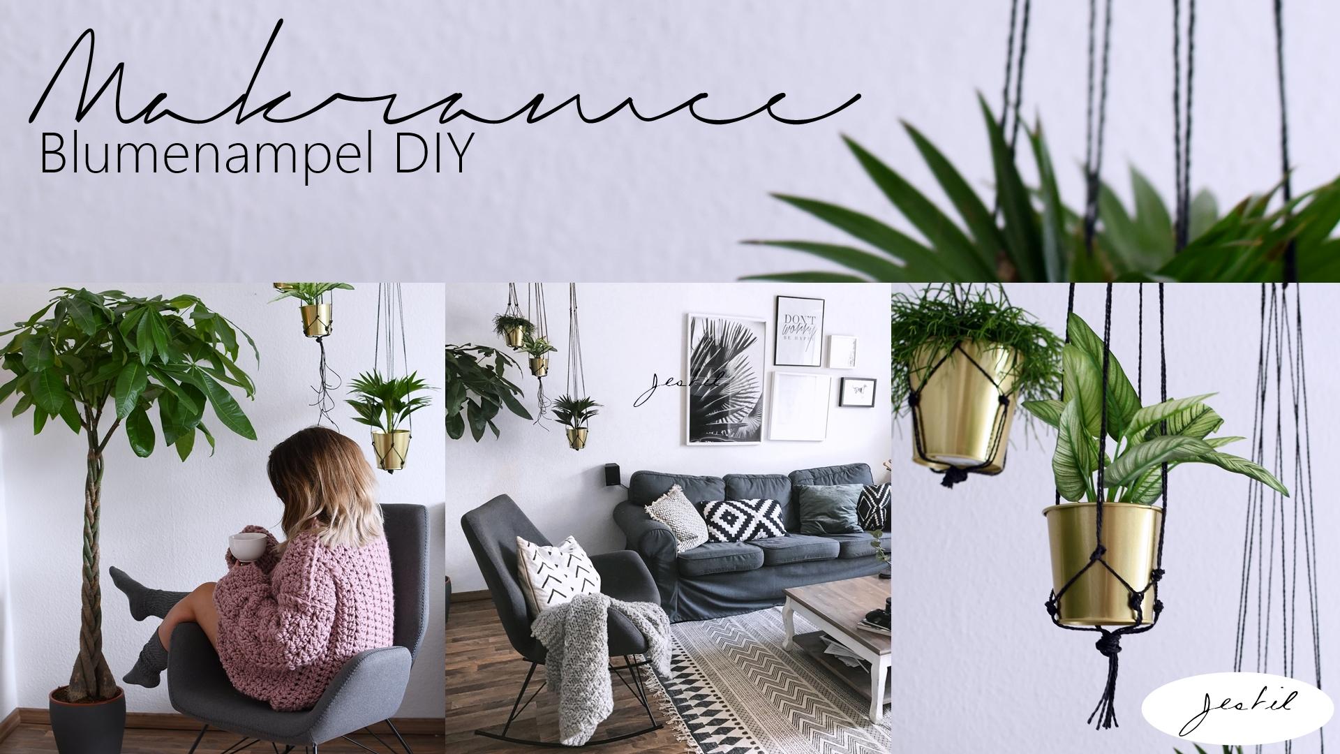 makramee blumenampel diy jestil. Black Bedroom Furniture Sets. Home Design Ideas